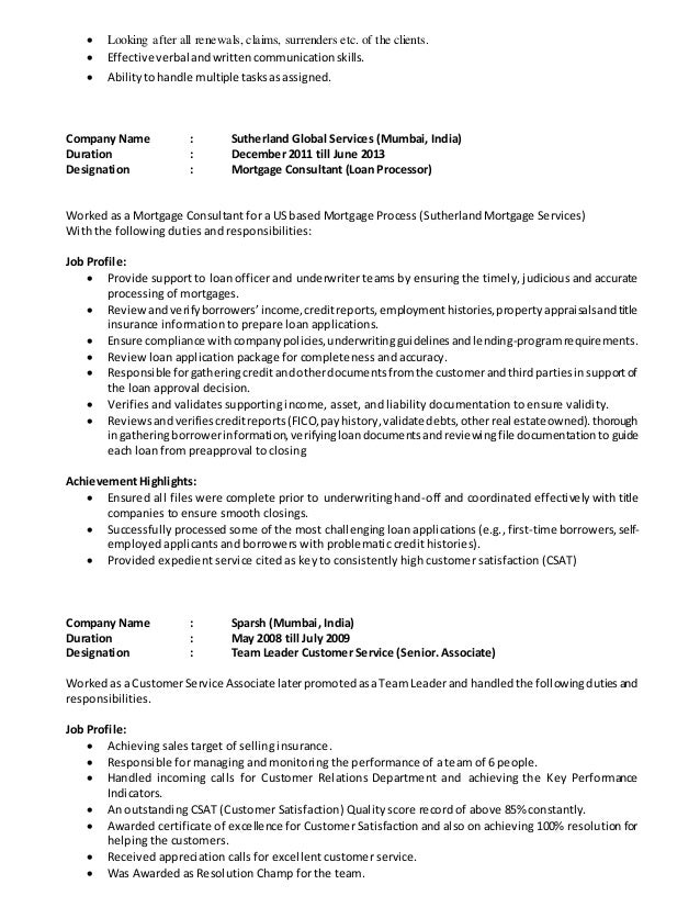 Vikita resume - Insurance compliance officer job description ...