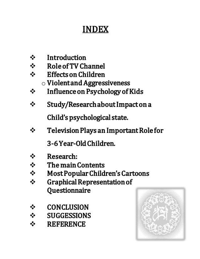 Effects of cartoon channels on children