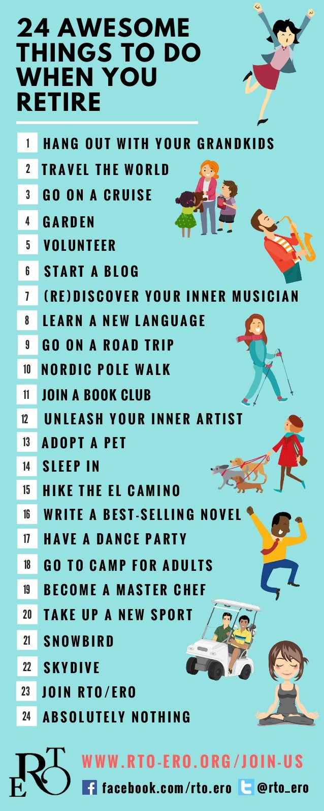 20 Awesome Things to do When You Retire