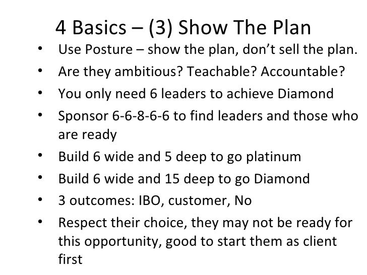 Amway Show The Plan Pdf