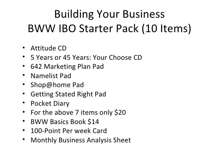 amway ibo business plan