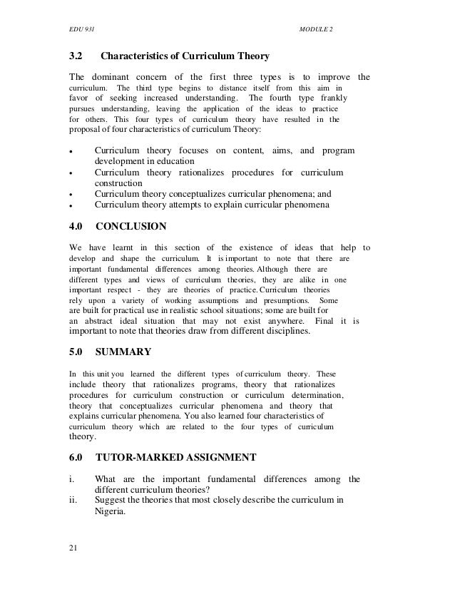 curricular theory and theorists essay Chapter 9 curriculum and instructional design curriculum theorists take it for granted that curriculum flows cannot afford to neglect either theory or design they have to be theorists and designers in this chapter, curriculum and instructional design are.