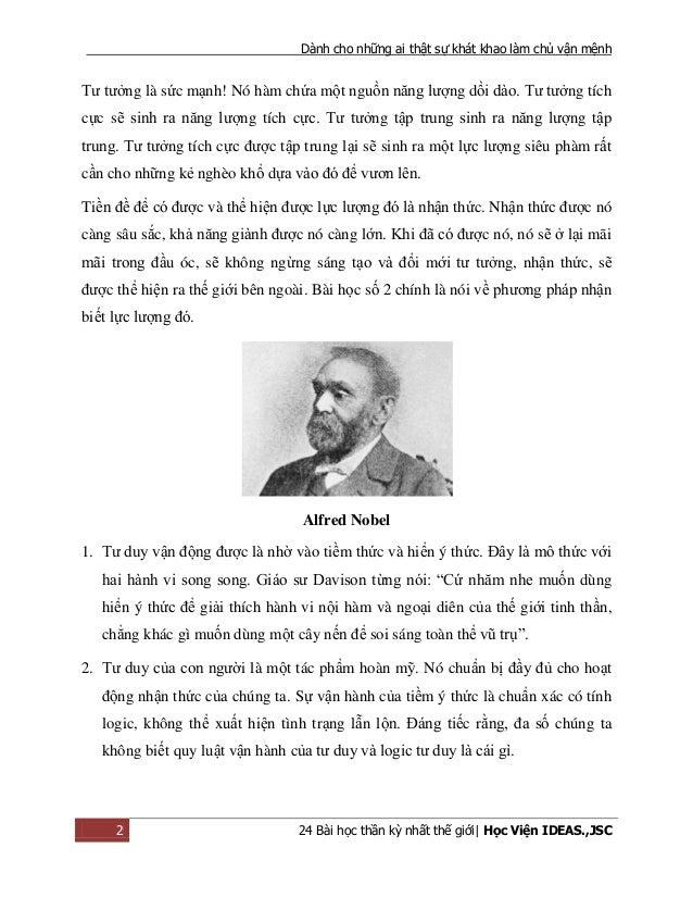 Dành cho những ai thật sự khát khao làm chủ vận mệnh 2 24 Bài học thần kỳ nhất thế giới| Học Viện IDEAS.,JSC Tư tưởng là s...