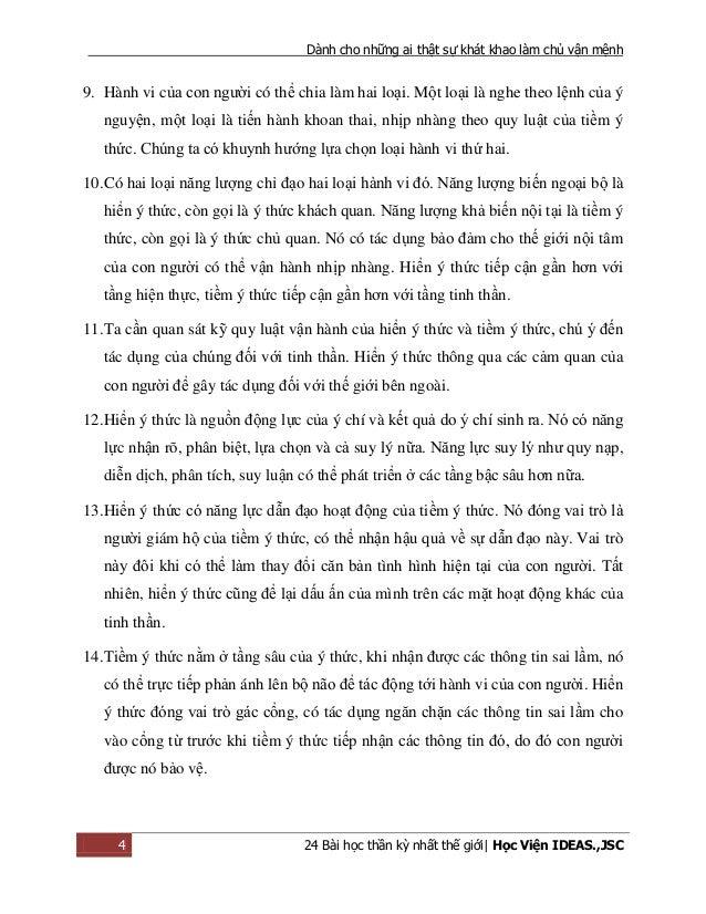 Dành cho những ai thật sự khát khao làm chủ vận mệnh 4 24 Bài học thần kỳ nhất thế giới| Học Viện IDEAS.,JSC 9. Hành vi củ...