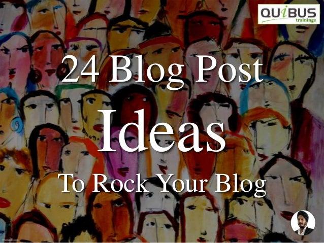 101 Fabulous Blog Topic Ideas