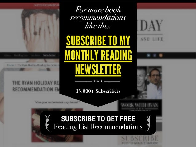 For more book recommendations like this: SUBSCRIBE TO MY MONTHLY READING NEWSLETTER 15,000+ Subscribers SUBSCRIBE TO GET F...
