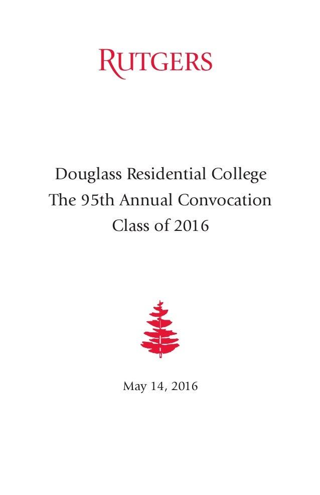 Douglass Convocation Program 2016