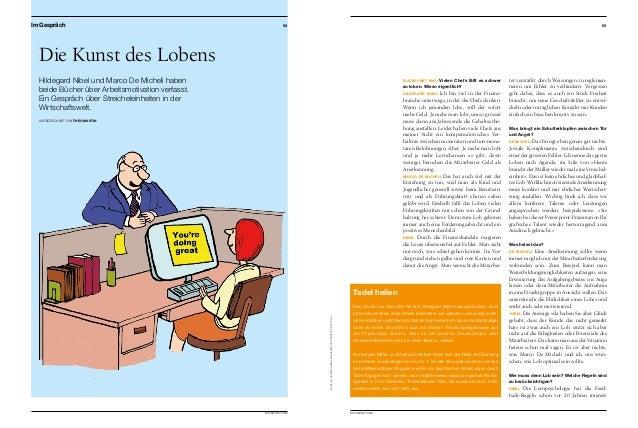 BLICKPUNKT KMU  53 52 BLICKPUNKT KMU Die Kunst des Lobens Hildegard Nibel und Marco De Micheli haben beide Bücher über A...