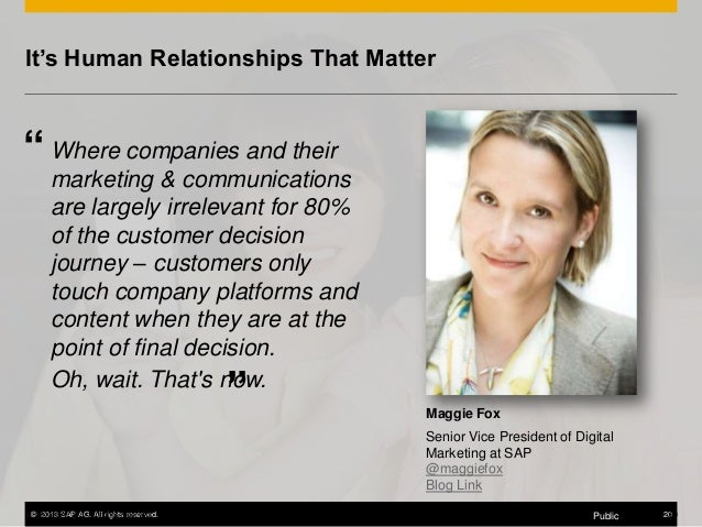 """It's Human Relationships That Matter  """" Where companies and their marketing & communications are largely irrelevant for 80..."""