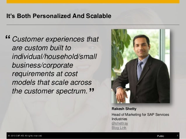 """It's Both Personalized And Scalable  """" Customer experiences that are custom built to individual/household/small business/c..."""