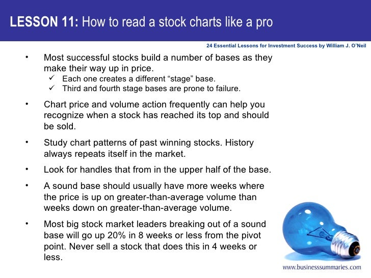 LESSON 11:  How to read a stock charts like a pro <ul><li>Most successful stocks build a number of bases as they make thei...
