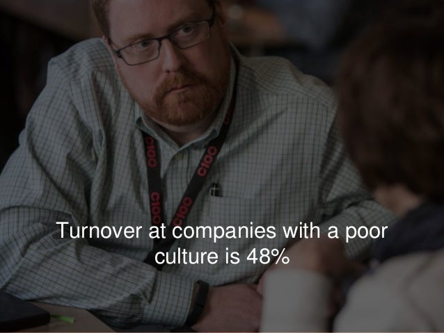 Turnover at companies with a poor culture is 48%