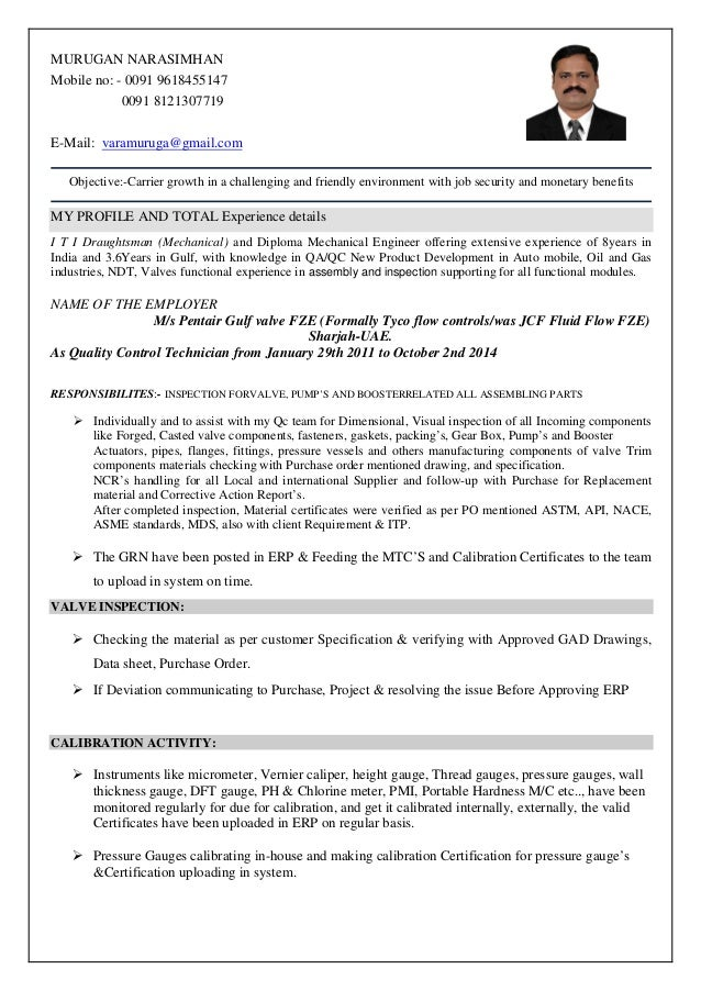 murugan resume