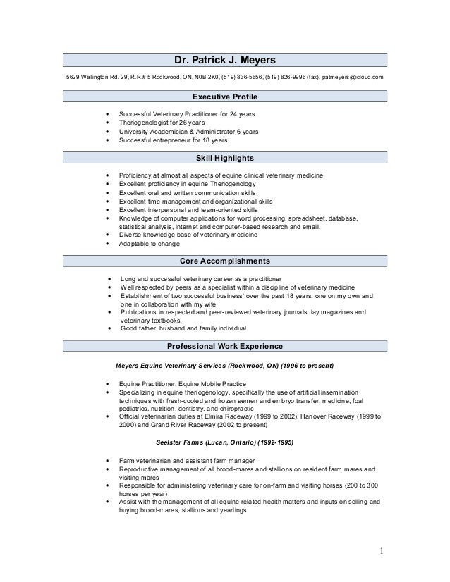 Veterinary Assistant Resume Examples Example Resume And Resume