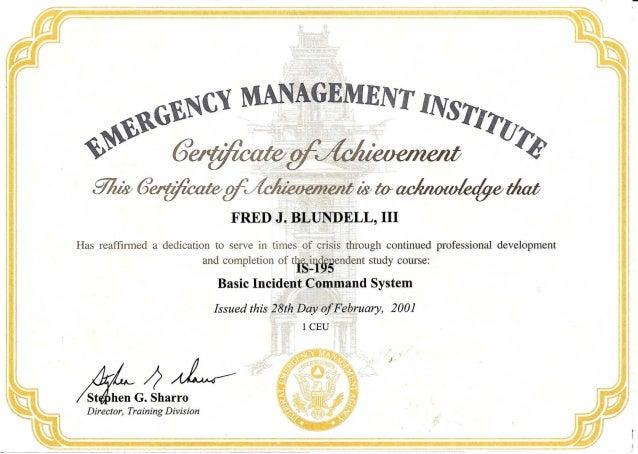 FEMA IS-195 Basic Incident Com Sys