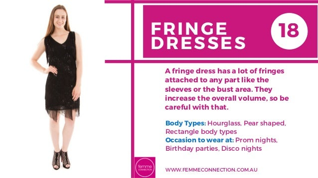 FRINGE DRESSES Body Types: Hourglass, Pear shaped, Rectangle body types Occasion to wear at: Prom nights, Birthday partie...