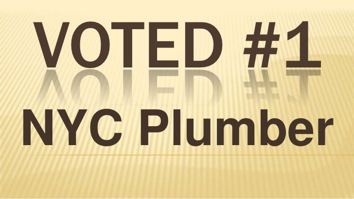 VOTED #1NYC Plumber