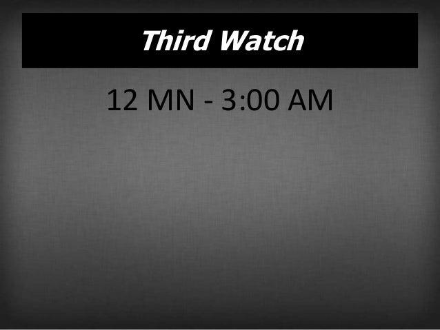 Third Watch  Am