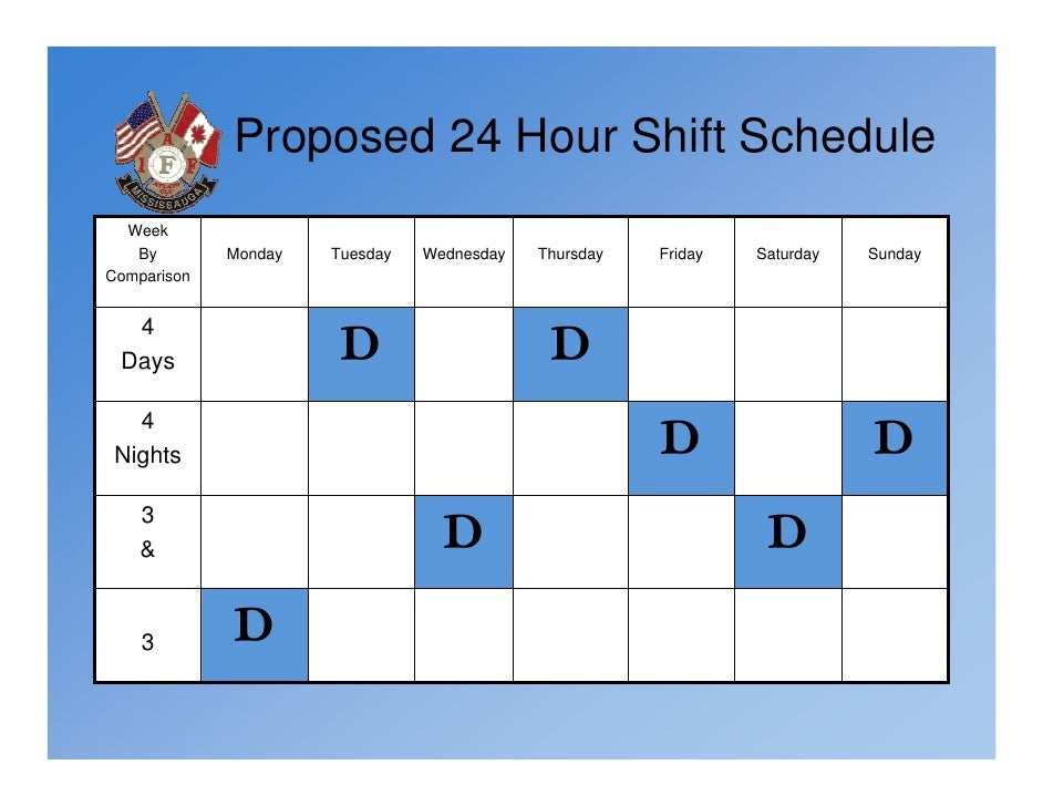 24 hour shift schedule