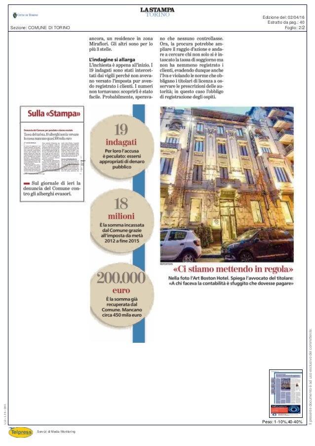 La Stampa - Si tengono la tassa di soggiorno. Indagati 19 ...