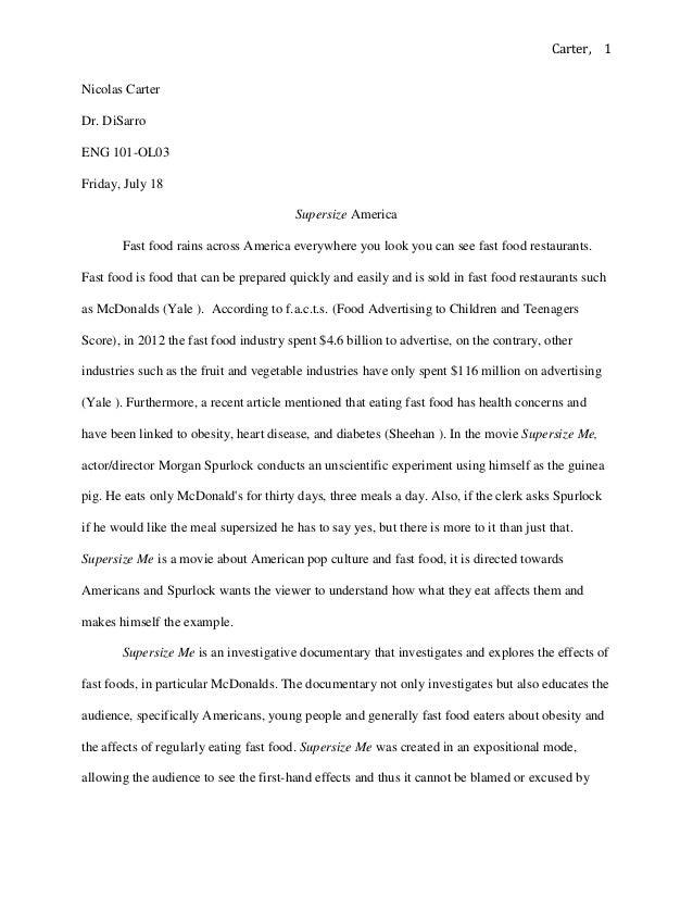 supersize me essay supersize me essay college dissertation definition