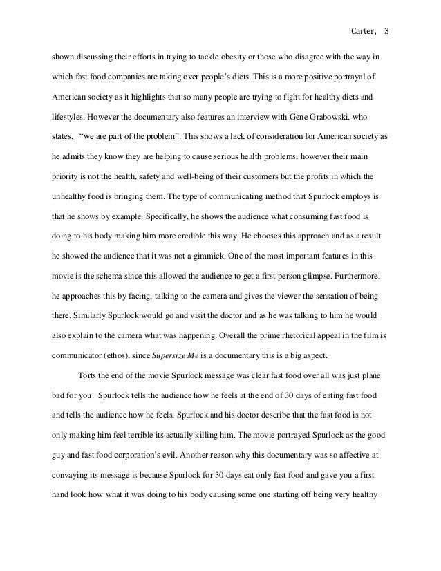 supersize me essay questions