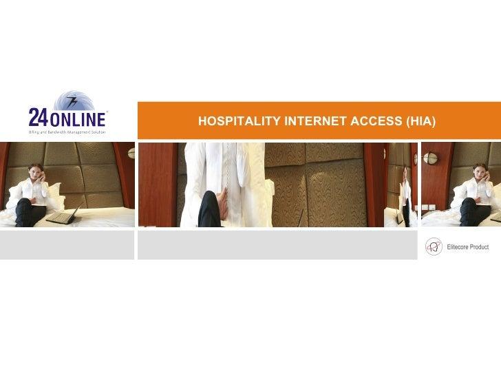 INTERNET BILLING SOLUTION FOR HOTELS