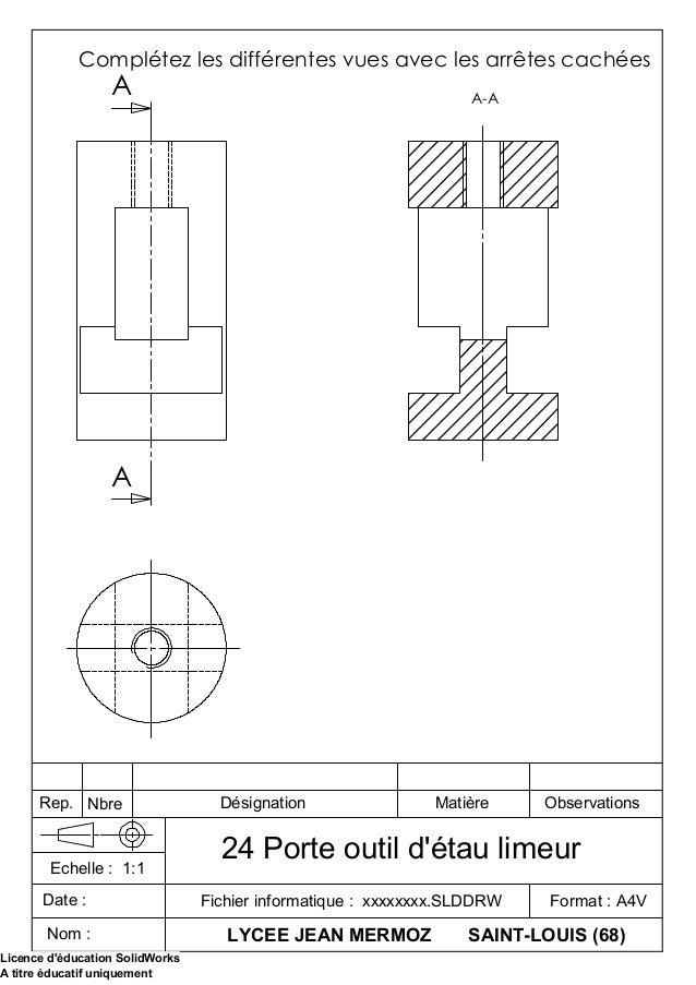 A A A-A Complétez les différentes vues avec les arrêtes cachées LYCEE JEAN MERMOZ SAINT-LOUIS (68) Fichier informatique : ...
