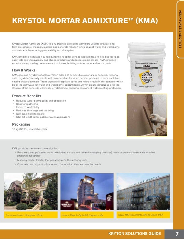 Kryton Concrete Waterproofing and Durability Solutions Guide