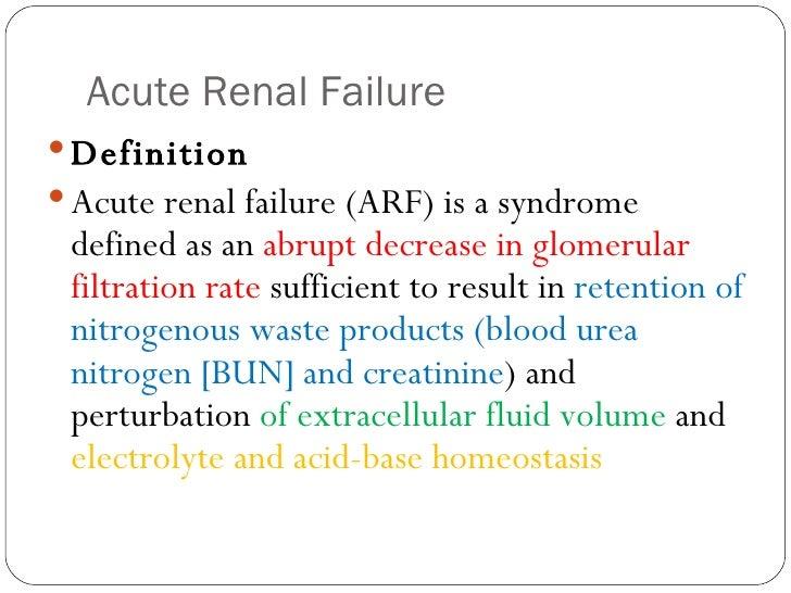 causes of acute renal failure pdf