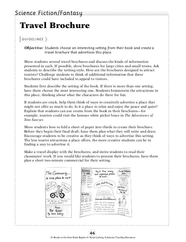 setting of a book report example