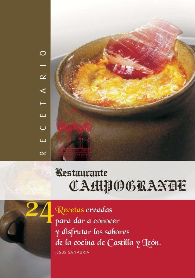 OIRT AECER      Recetas creadas      para dar a conocer      y disfrutar los sabores      de la cocina de Castilla y Le—n....