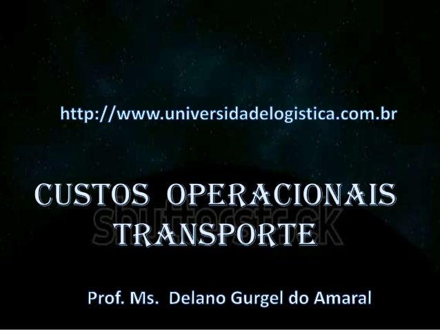 Questões Logísticas (Pesquisa Operacional) A Pesquisa Operacional, é definida como aplicação de técnicas de modelagem a pr...