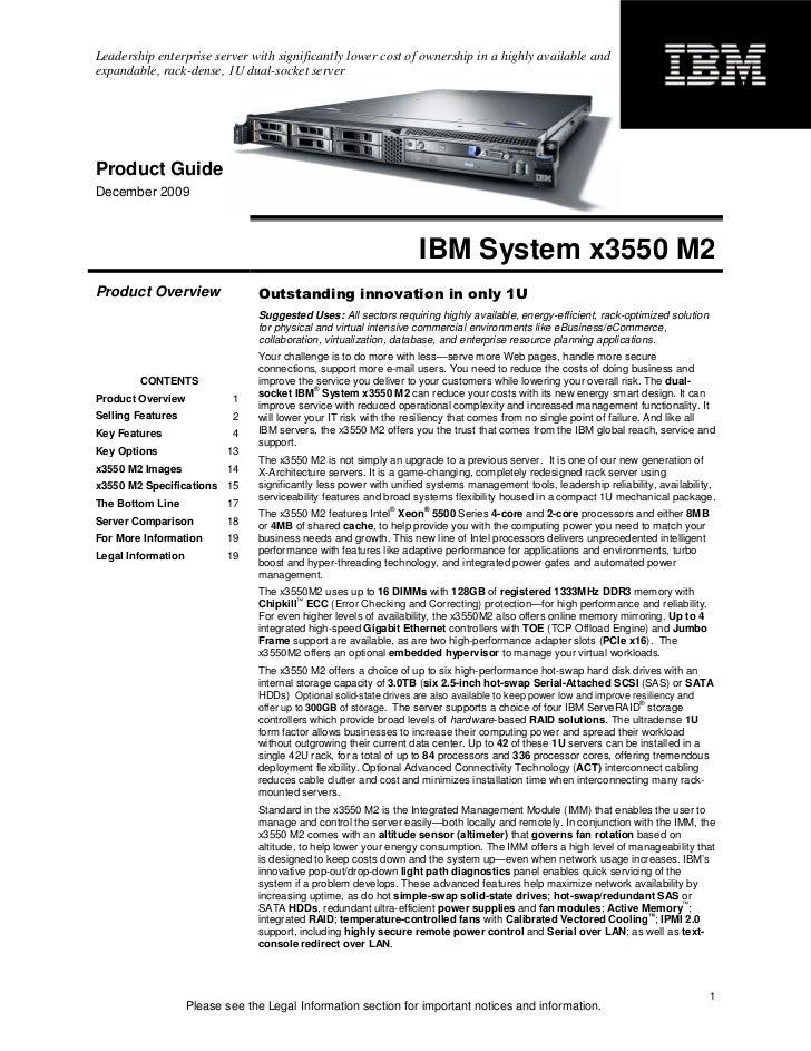 ibm system x3550 m2 product guide rh slideshare net IBM System X3550 Server IBM Server Rack