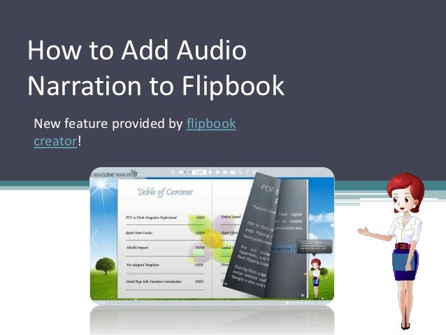How to Add AudioNarration to FlipbookNew feature provided by flipbookcreator!