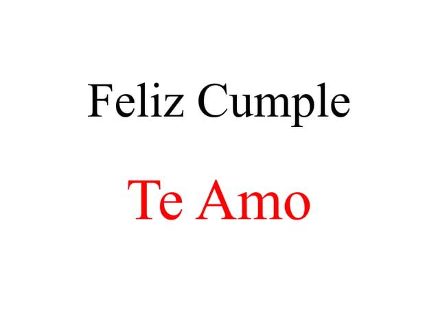 Feliz CumpleTe Amo