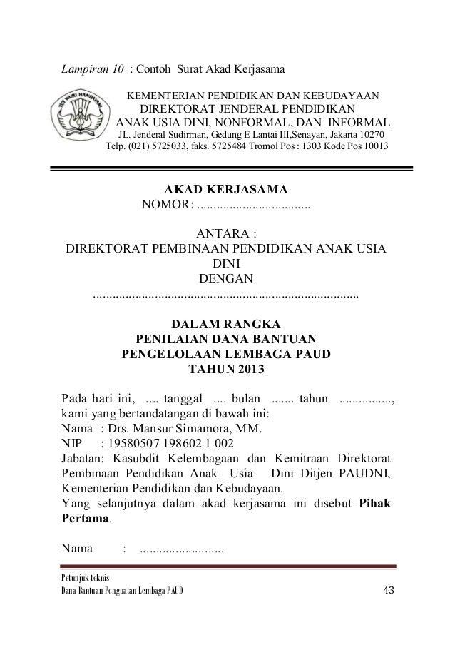Contoh Surat Pernyataan Lembaga Pendidikan Feed News Indonesia