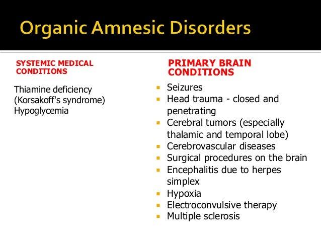 organic amnesia