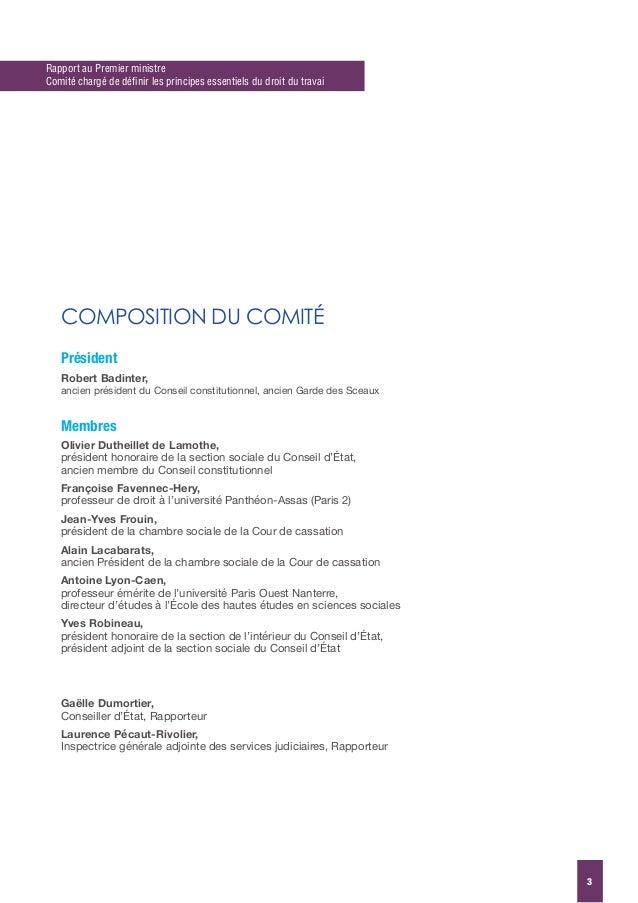 Rapport badinter - Chambre sociale de la cour de cassation ...