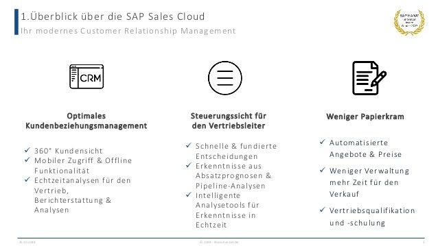 1.Überblick über die SAP Sales Cloud 25.10.2018 © 2018 - IBsolution GmbH 3 Ihr modernes Customer Relationship Management ...