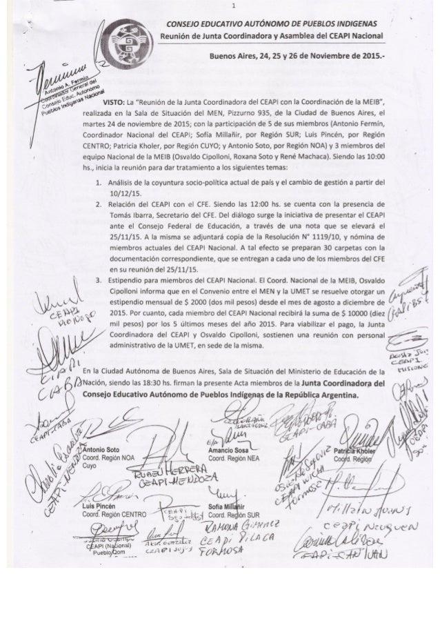 Asamblea del CEAPI Nacional, 25 y 26 de Noviembre de 2015