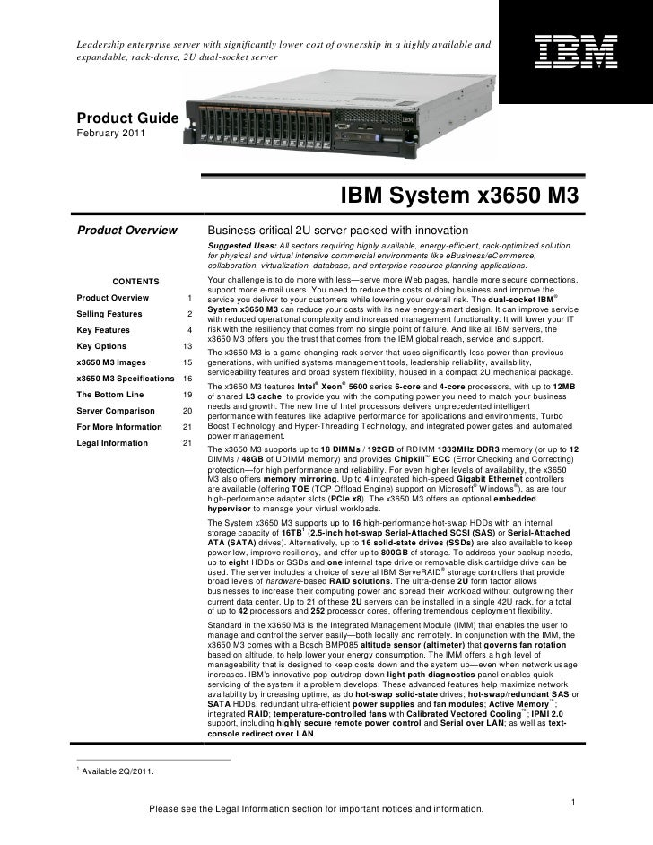 ibm system x3650 m3 product guide rh slideshare net system x3550 m3 manual ibm x3650 m3 service guide