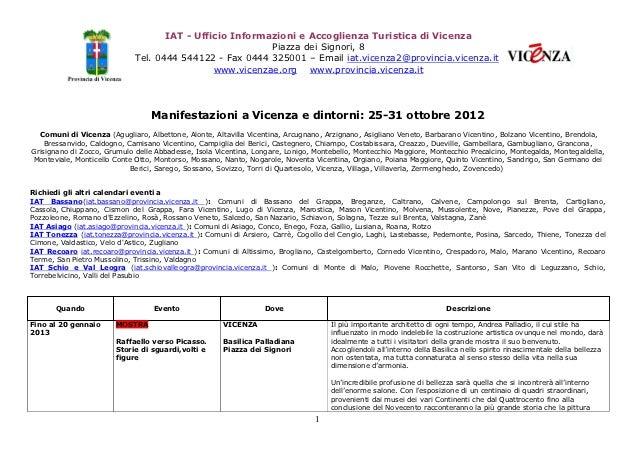 IAT - Ufficio Informazioni e Accoglienza Turistica di Vicenza                                                         Piaz...