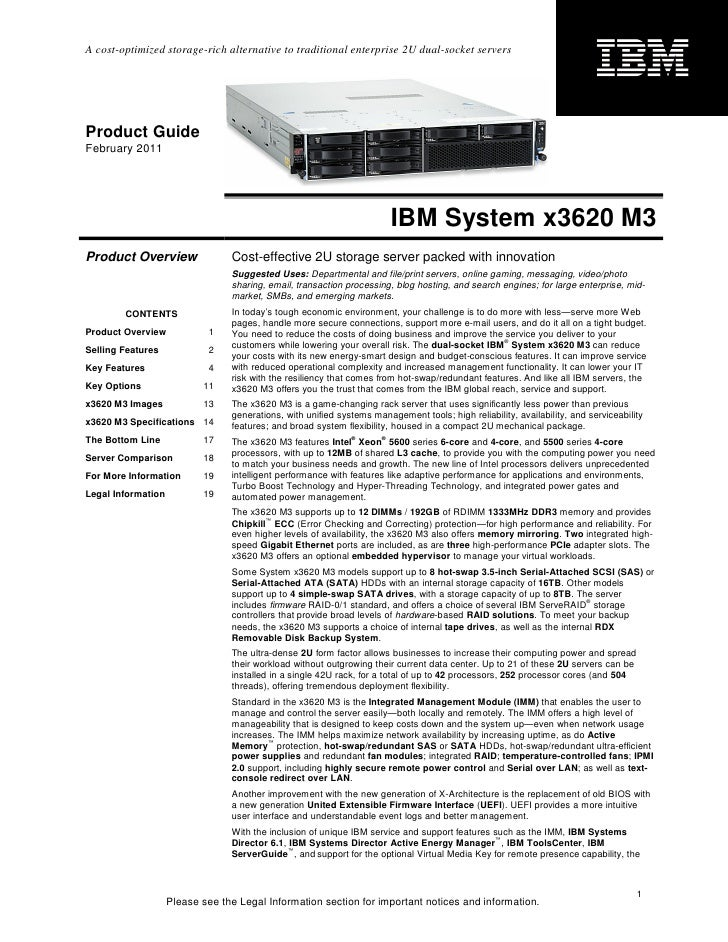 A cost-optimized storage-rich alternative to traditional enterprise 2U dual-socket serversProduct GuideFebruary 2011      ...