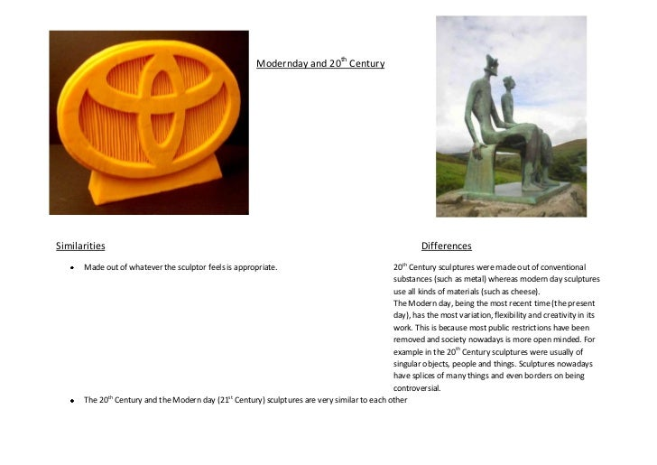 comparison of three sculptures The three statues of david are the three david statues art essay print comparison and contrast of three sculptures.