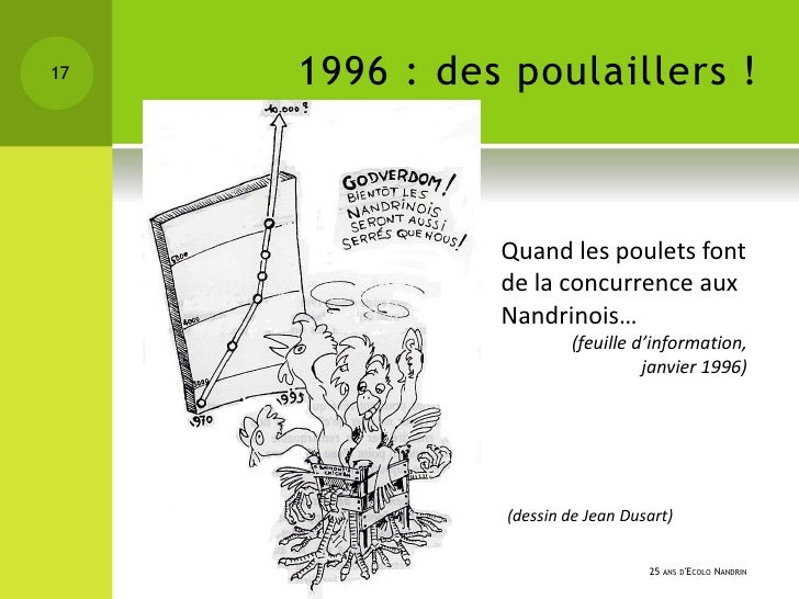 17   1996 : des poulaillers !               Quand les poulets font               de la concurrence aux               Nandr...