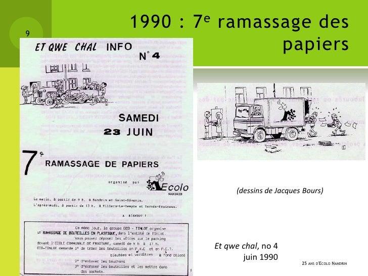 9    1990 : 7 e ramassage des                     papiers                  (dessins de Jacques Bours)             Et qwe c...