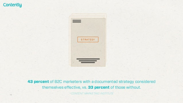 43 percent of B2C marketers with a documented strategy considered themselves effective, vs. 33 percent of those without. -...