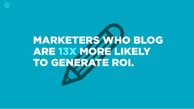 MARKETE BLOG ARE 13X LIKELY TO GE ROI.
