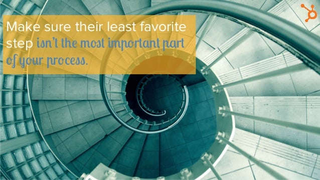 Make sure their least favorite step isn't the most important part of your process.